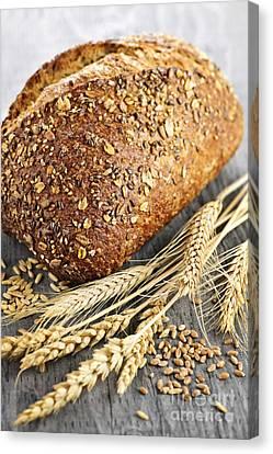 Bakery Canvas Print - Loaf Of Multigrain Bread by Elena Elisseeva