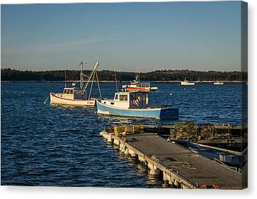 Lobster Boats Maine  Canvas Print by Trace Kittrell