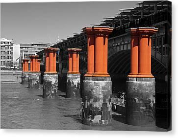London Thames Bridges Canvas Print by David French