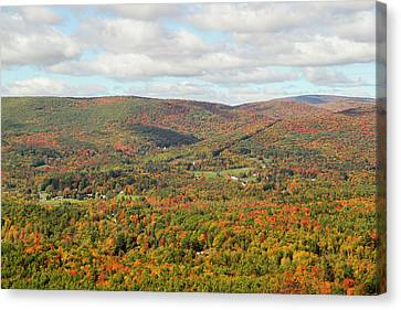 Looking Out Over The Autumn Landscape Canvas Print by Susan Pease