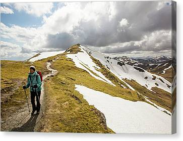 Looking Towards Beinn Ghlas Canvas Print by Ashley Cooper