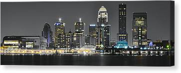 Slugger Canvas Print - Louisville Lights by Frozen in Time Fine Art Photography