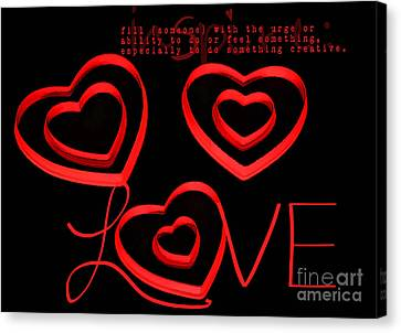 Love Canvas Print by Darren Fisher