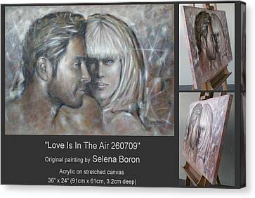 Canvas Print featuring the painting Love Is In The Air 260709 by Selena Boron