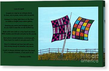 Love Of A Quilt Canvas Print
