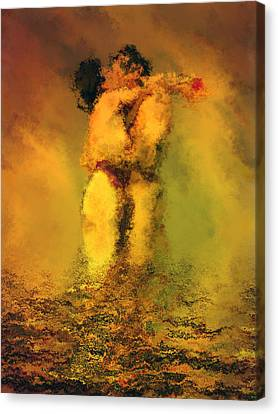 Passionate Lovers Canvas Print - Lovers by Kurt Van Wagner