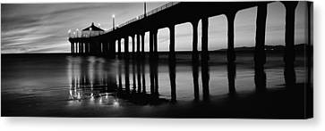 Urban Scenes Canvas Print - Low Angle View Of A Pier, Manhattan by Panoramic Images
