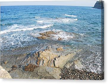 Canvas Print featuring the photograph Low Tide by George Katechis