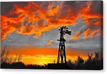Lubbock Skyline Canvas Print by GCannon