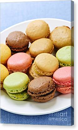Bakery Canvas Print - Macaroon Cookies by Elena Elisseeva