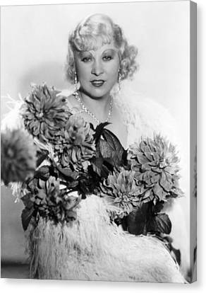 Mae West, Ca. 1934 Canvas Print by Everett