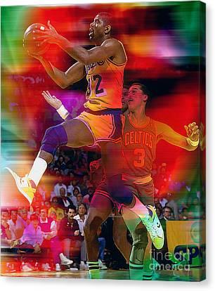 Magic Johnson Canvas Print - Magic Johnson by Marvin Blaine