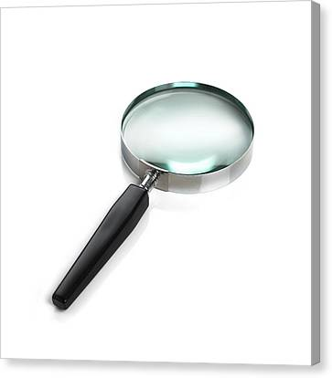 Magnifying Glass Canvas Print by Science Photo Library