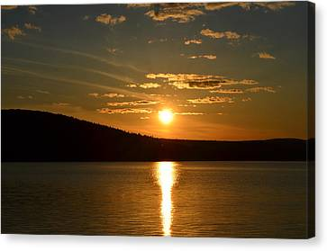Canvas Print featuring the photograph Maine Sunset by James Petersen