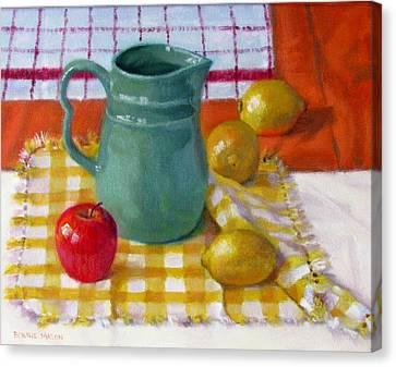 Old Pitcher Canvas Print - Make Lemonade by Bonnie Mason