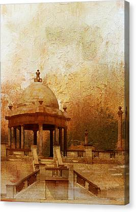 Tomb Canvas Print - Makli Hill by Catf