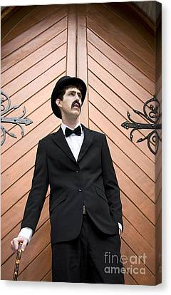 Man In Mourning Canvas Print