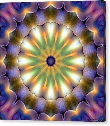 Mandala 105 Canvas Print by Terry Reynoldson