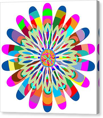 Mandala Is An Object It Is Your Spirit To Meditate And Be In Touch With Cosmic Forces That Matters Canvas Print by Navin Joshi