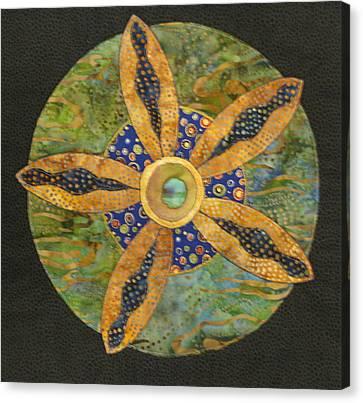 Mandala No 6 Wheel Of Fortune Canvas Print by Lynda K Boardman
