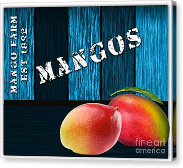 Mango Canvas Print - Mango Farm Sign by Marvin Blaine