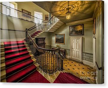 Mansion Stairway Canvas Print by Adrian Evans