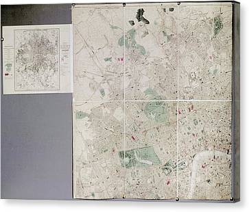 Map Of London Canvas Print by British Library