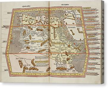 Map Of The Ancient World Canvas Print