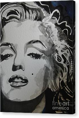 Marilyn Monroe 01 Canvas Print by Chrisann Ellis