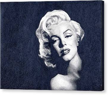 Marilyn Monroe Canvas Print by Erin Mathis