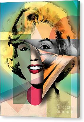 Marilyn Monroe Canvas Print by Mark Ashkenazi