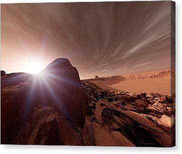 Mars Exploration Canvas Print by Detlev Van Ravenswaay