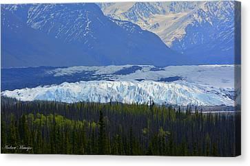 Matanuska Glacier Canvas Print by Andrew Matwijec
