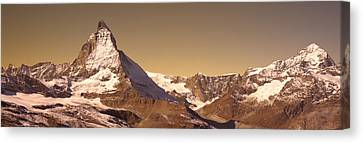 Snow-covered Landscape Canvas Print - Matterhorn Switzerland by Panoramic Images