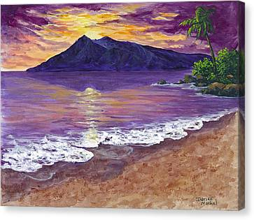 Maui Sunset Canvas Print by Darice Machel McGuire
