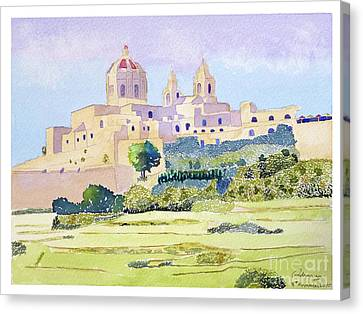 Mdina Skyline Canvas Print