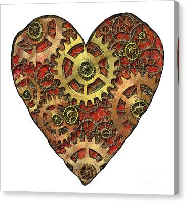 Technical Canvas Print - Mechanical Heart by Michal Boubin