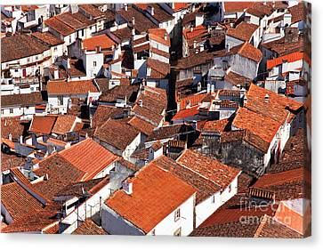Medieval Town Rooftops Canvas Print by Jose Elias - Sofia Pereira