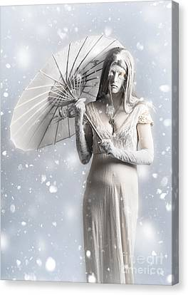 Melancholy Of Infinite Sadness. The White Vampire Canvas Print by Jorgo Photography - Wall Art Gallery