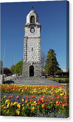 Memorial Clock Tower, Seymour Square Canvas Print by David Wall
