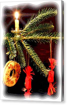 Canvas Print featuring the photograph Memories Of A Christmas Past by Ludwig Keck