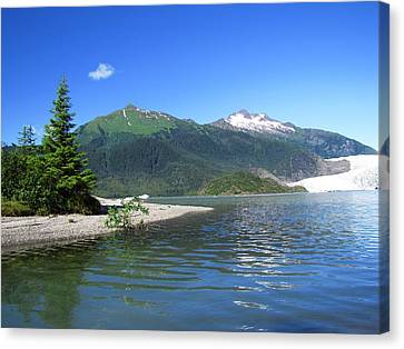 Canvas Print featuring the photograph Mendenhall Glacier by Jennifer Wheatley Wolf