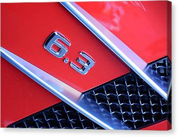 Mercedes-benz 6.3 Gullwing Emblem Canvas Print