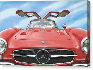 Mercedes Gullwing Canvas Print by Rod Seel