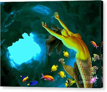 Mermaid Cave Canvas Print by Steed Edwards