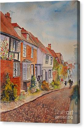 Canvas Print featuring the painting Mermaid Street Rye by Beatrice Cloake