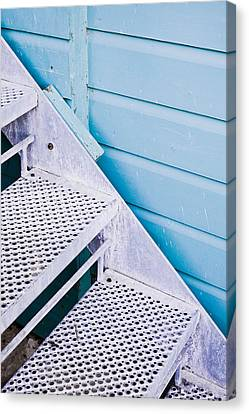 Metal Stairs Canvas Print by Tom Gowanlock