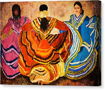 Dancer Canvas Print - Mexican Fiesta by Sushobha Jenner