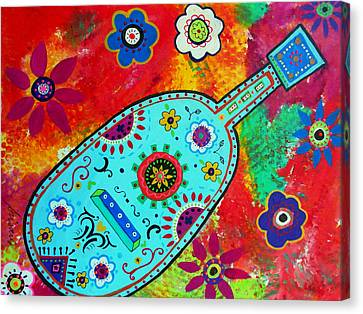 Mexican Guitar Canvas Print by Pristine Cartera Turkus