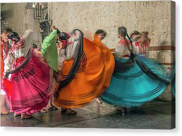 Abstract Movement Canvas Print - Mexico, Oaxaca, Mexican Folk Dance by Rob Tilley